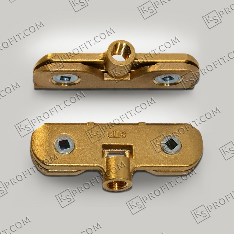 Зажим подвесной двухвинтовой (ЗПВ) латунный