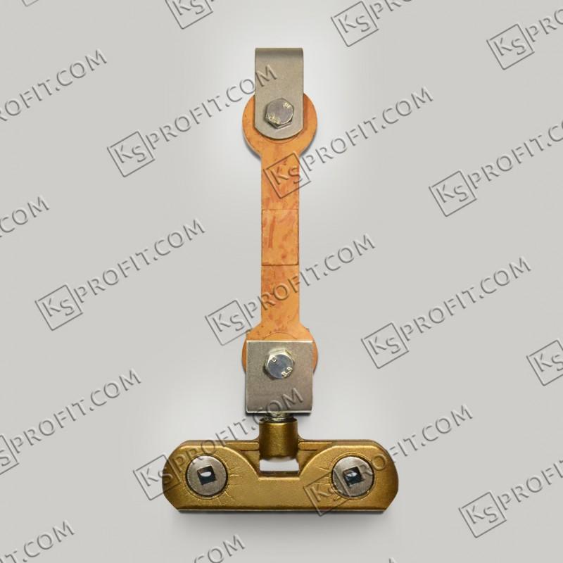 Підвіс ковзаючий з ізолятором ІКП та затискачем підвісним двох гвинтовим ЗПВ латунним